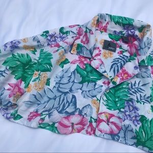 Vintage Cropped Hawaiian Shirt